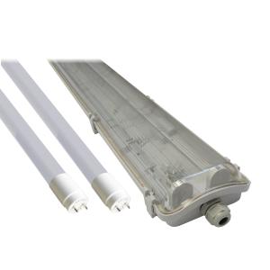 Zestaw: oprawa hermetyczna HALER 2x18W, 2xtuba LED Nano+ 18W 4000